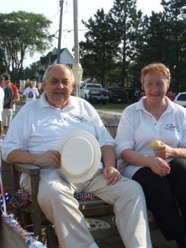 "Dick & Rusty in July 4, 2004 parade for Dick's Market ""50th"""