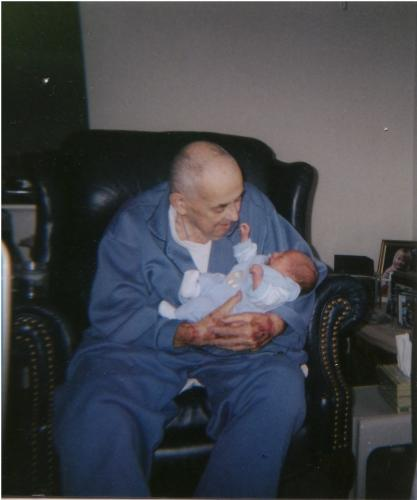 Dick & Great-Grandson Bryce Edward Merren (last picture)